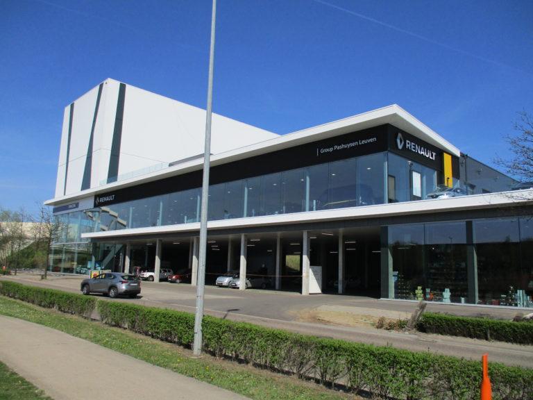 façade extérieur garage Renault Pashuysen de Leuven