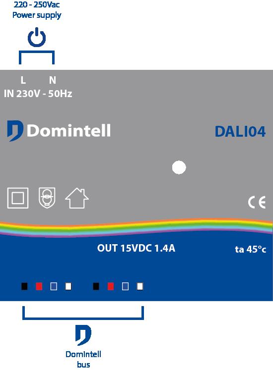 schéma de câblage du DALI04