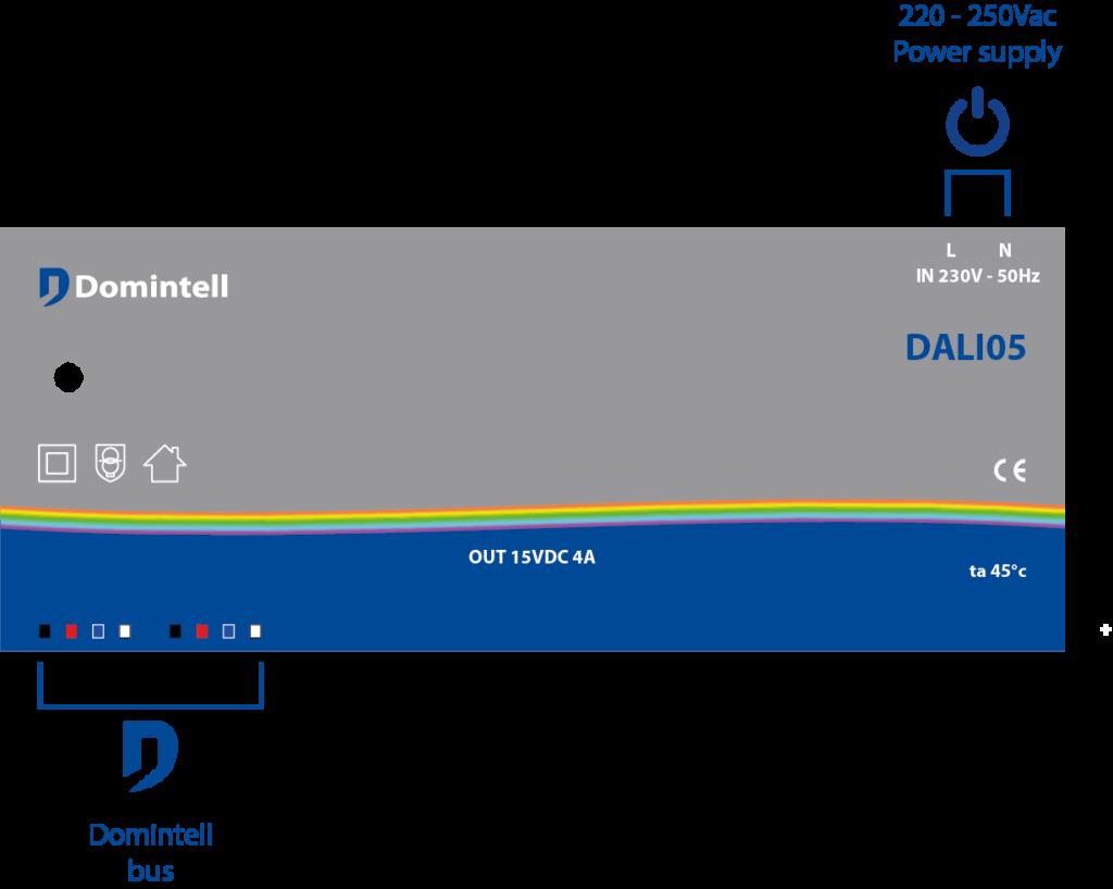 schéma de câblage du DALI05
