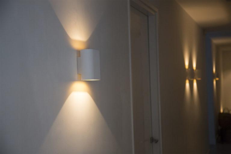 intérieur de maison avec éclairage design à Berg en Dal