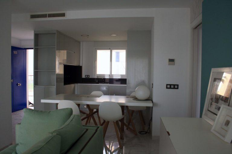 intérieur d'appartement avec boutons Domintell