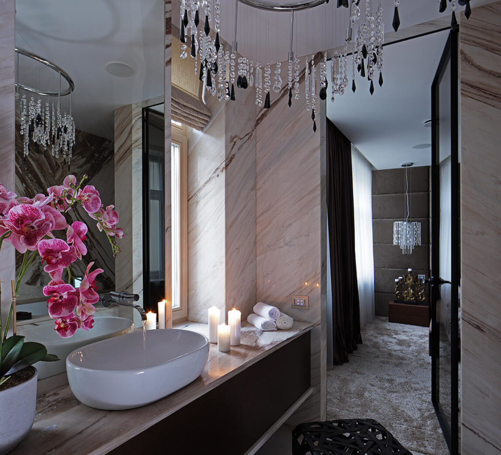 salle de bain architecturale dans un appartment design à riga