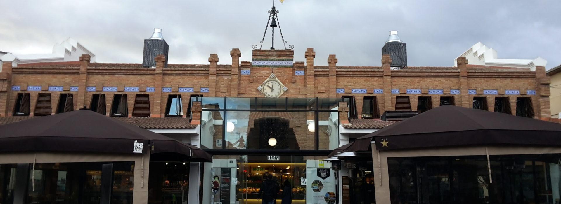 entrée du marché Mercat Vell de Sant Cugat