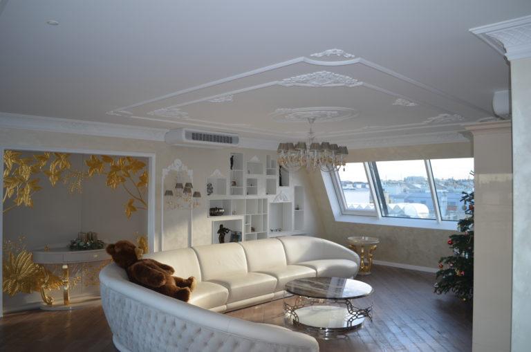 salon dans un appartement duplex à Vienne