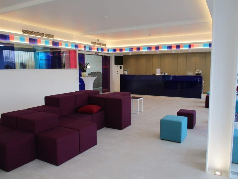 hall de réception dans l'hôtel Corbie de Lommel