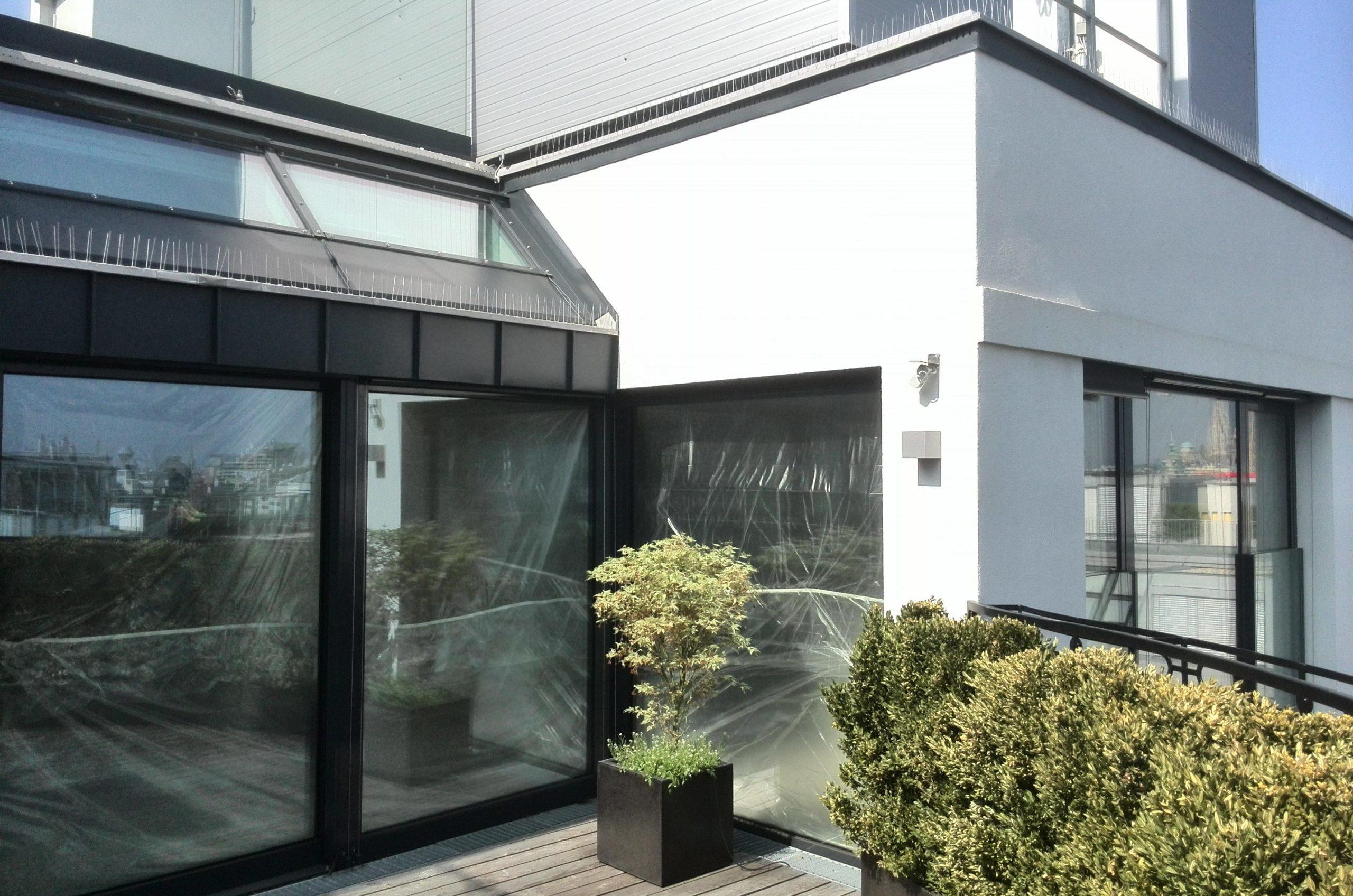 Terrasse extérieure dans un appartement duplex à Vienne