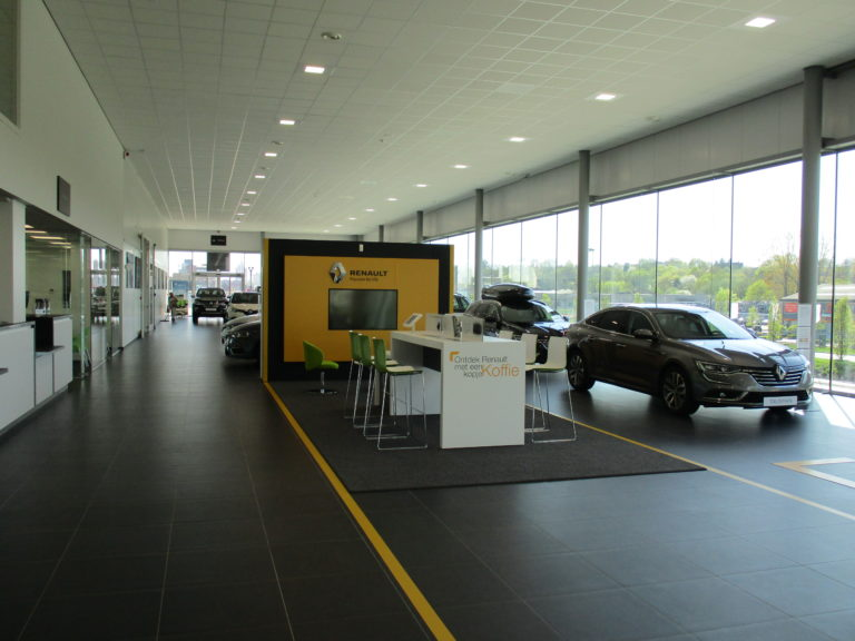 intérieur design garage Renault Pashuysen Leuven