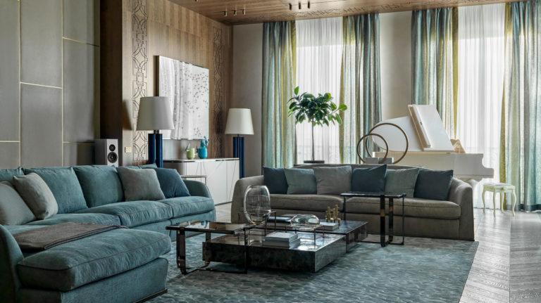 salon dans un appartement privé de Moscou