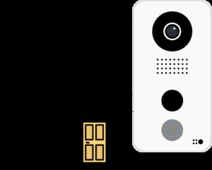 schéma de câblage Doorbird PoE